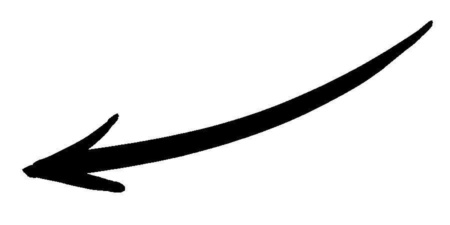 charcoal handwritten arrow